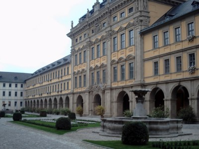 WURZBURG  GERMANY.     Juliusspital,,    Baroque Arcades.