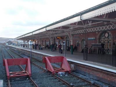 ABERYSTWYTH  WALES. Main railway station.