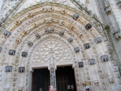 QUIMPER,  FRANCE. --- Cathedral  doorway.