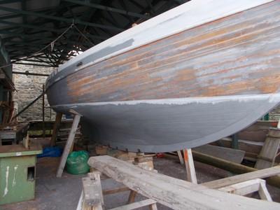 CONWY WALES  Boat repair.