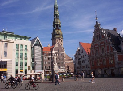 RIGA LATVIA.  St, peters.