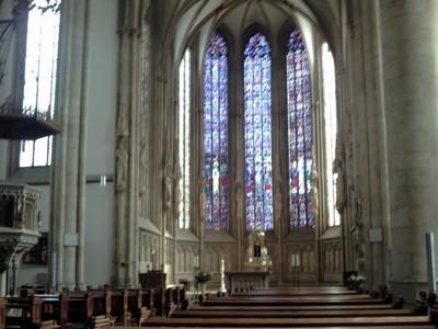 MUNSTER,  GERMANY.   Windows of St Lamberts  Church.
