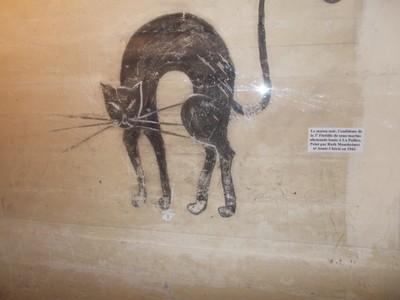 LA  ROCHELLE,  FRANCE..   --     Painting on wall in German  Bunker  museum.