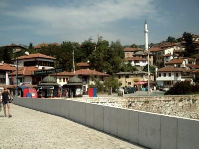 SARAJEVO,  BOSNIA HERZEGOVINA.-- One  of  the  bridges  over  the  river.
