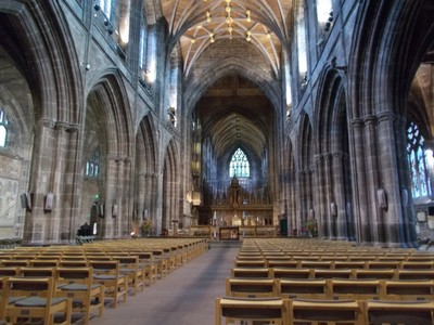 CHESTER CATHEDRAL NAVE.