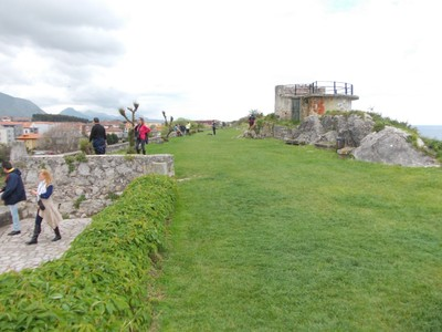 LLANES, SPAIN.  -- On Paseo de San  Pedro, the  walk of  St Peter.  On  the  cliff  top  ,views  of  the sea.