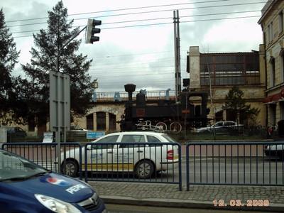 CZECH,  CESKY  BUDEJOVICE.  Outside railway  station.