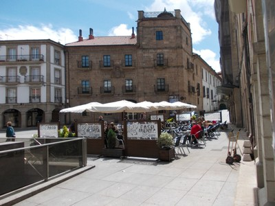 AVILES,  SPAIN.   --    Plaza de  Europa. -  Palace of  Ferrera,  a  stone  building.