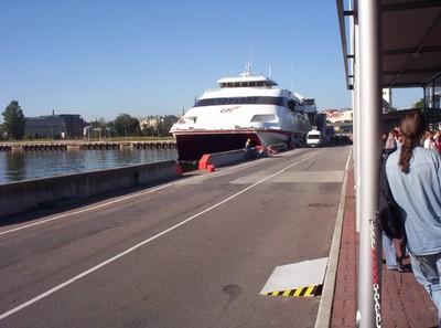 TALLINN ESTONIA. Ferry waiting for Helsinki Finland.