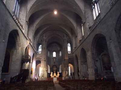 VANNES,  FRANCE.     Cathedral  Nave.