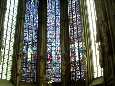 MUNSTER,  GERMANY.  Windows in St Lamberts  Church.