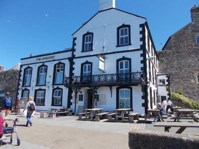 The Anglesey pub facing the Menai Strait.
