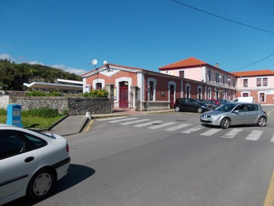 LLANES,  SPAIN.    FEVE  railway  station, in  Llanes.-- --Train to  Santander  over  2  hours.