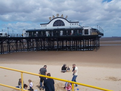 CLEETHORPES .Fish and chips cafe on the Pier.
