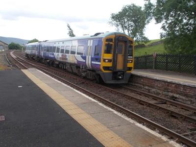 Station on  Settle to  Carlisle , North  Yorkshire , England.