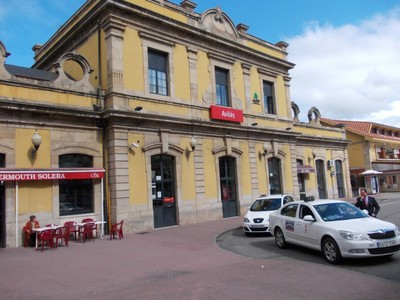 AVILES  SPAIN.  Station  front, stuated  in El Pozon.
