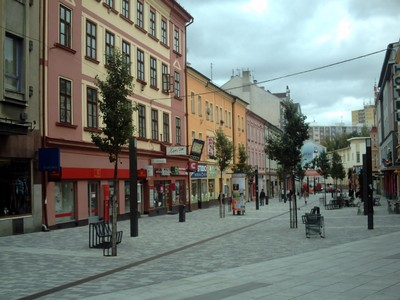 CHEB  CZECH.    Metal strip can be seen in centre of street.
