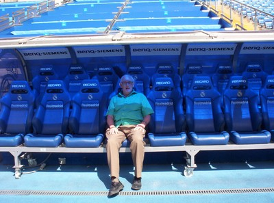REAL  MADRID.   Could this be Real Madrid next mamager.??...   It is the managers seat..