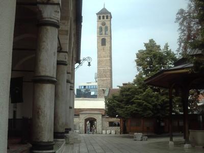 SARAJEVO.  Sahat Kula.   Old  Clock  Tower.  From  the  16th  century.    30m  high.
