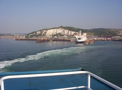DOVER  ENGLAND.--  Leaving  on  a  Ferry  to  Calais  France ,on  a  Day-trip.