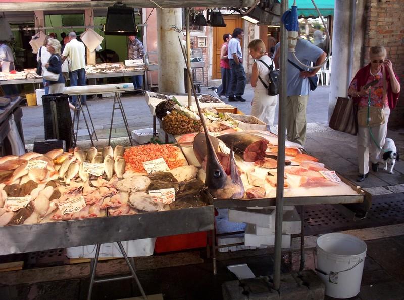 VENICE  ITALY .   Fish Market.
