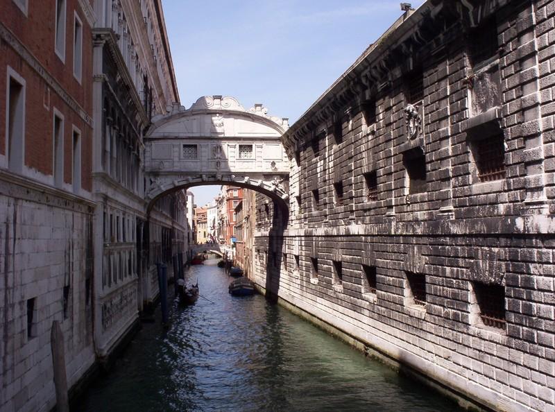 VENICE  ITALY .   Bridge of Sighs.