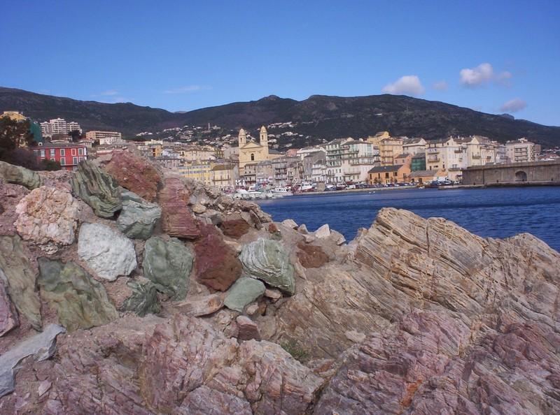 BASTIA CORSICA.   Colourful rocks.