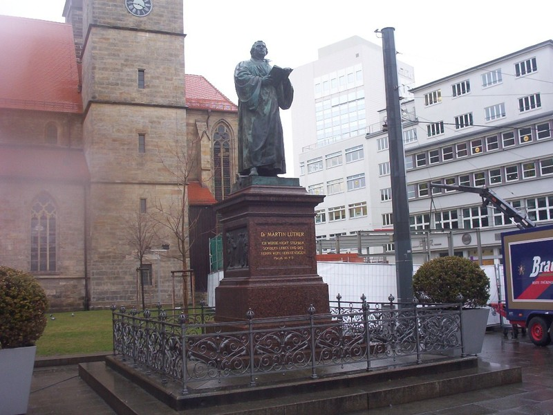 GERMANY  ERFURT. --- Statue of Martin Luther [1483-1546