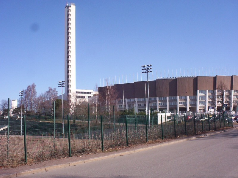 HELSINKI  FINLAND.   Tower at old Olympic  Stadium.