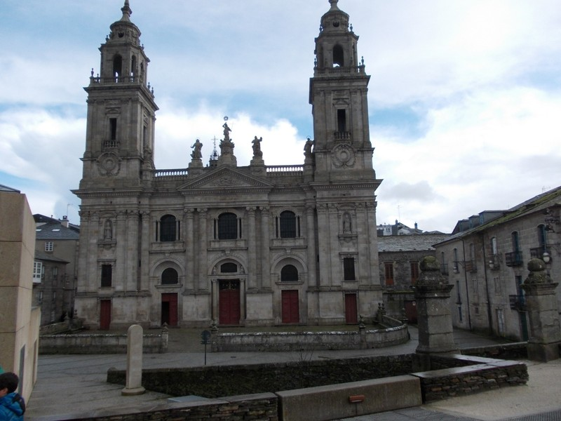 LUGO, GALICIA   SPAIN.---   Cathedral  of  St  Mary  started   1129AD.