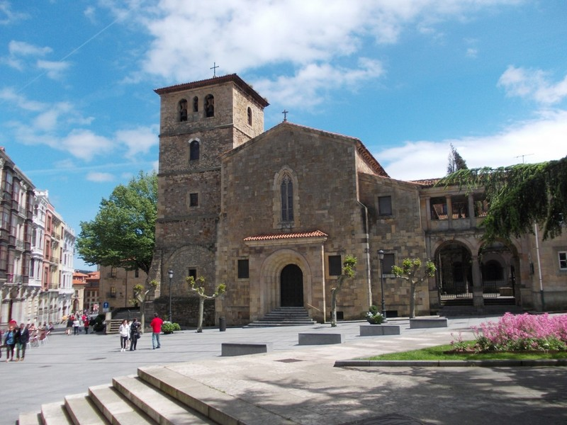 AVILES,  SPAIN.  --  San  Nicolas de Bari Church, in  Calle San Francisco a Romanesque  church from  13th  century.