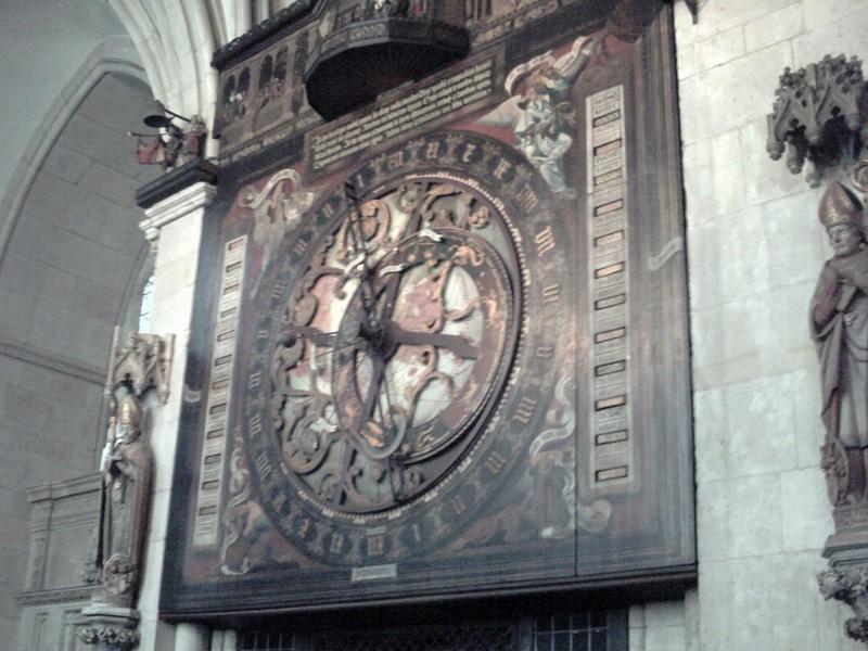 MUNSTER,  GERMANY  --  Astronomical  Clock. in St Pauls  Dom.  -- Built between  1540 & 1542.--  Diameter of dial  3m.