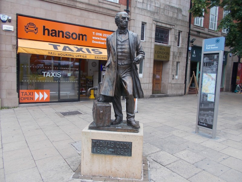 THOMAS COOK was the man  who invented train excursions in about 1840 in England.So we should thank him for encouraging travel.