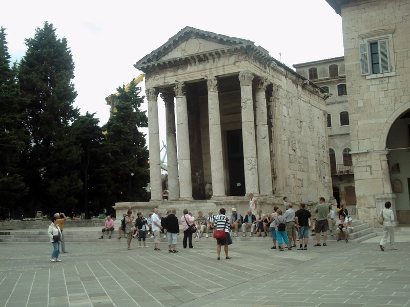 PULA  CROATIA..--  Temple of Augustus. --First  Roman  Emperor  reigned 27 BC  to14 AD.