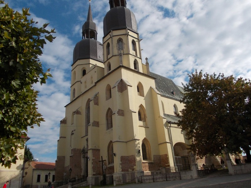 TRNAVA,  SLOVAKIA.  ----Basilica of St. Nicolas.  Main  city  church.  Started  1325  AD,  100 years  to  complete.