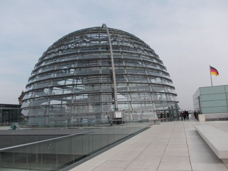 REICHSTAG DOME FROM ROOF.
