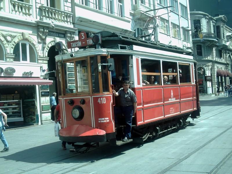 ISTANBUL  TURKEY...Old tram in service.