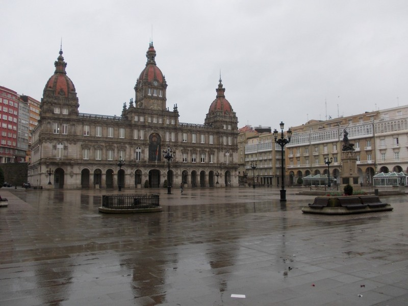 A.CORUNA   GALICIA  SPAIN.......City  Hall  in the  heart  of  the  city.  Built  in  1917  in  Neoclassical  Style.