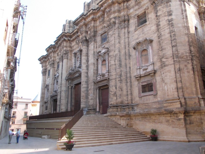 TORTOSA,  SPAIN.  Cathedral of St. Mary,  baroque  facade.