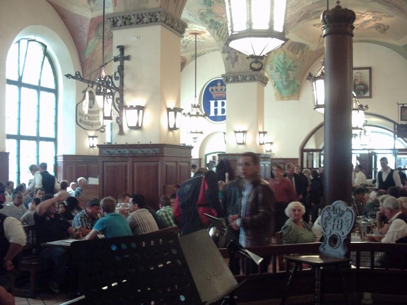 MUNICH,  GERMANY.  --  Hofbrahaus  Beer  Hall.