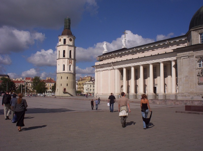 VILNIUS LITHUANIA...  Cathedral Tower.