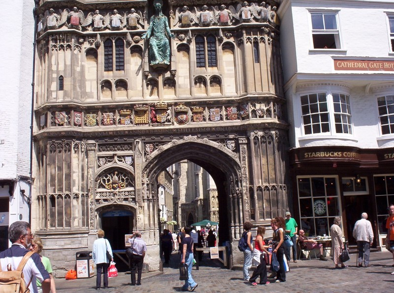 CANTERBURY  ENGLAND.   -- Christchurch  Gate,  built  1504 AD  to  1521.AD  Entrance  to  Cathedral  grounds.
