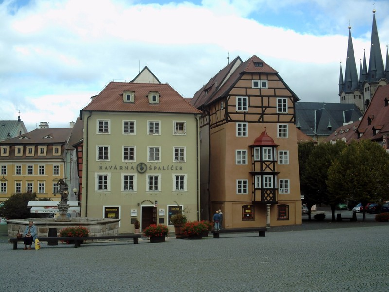 CHEB  CZECH. --- Buildings on Spalicek.