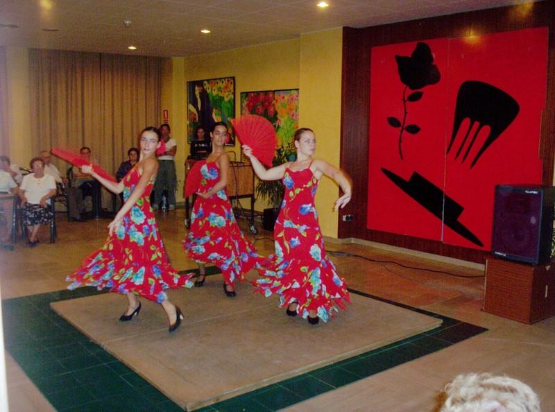 SALOU, SPAIN..--  Dancers in  hotel.