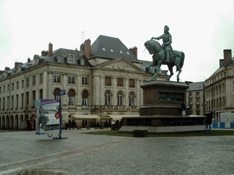 """ORLEANS,  FRANCE.   Statue of Joan of Arc.   """"The Maid of Orleans """"."""