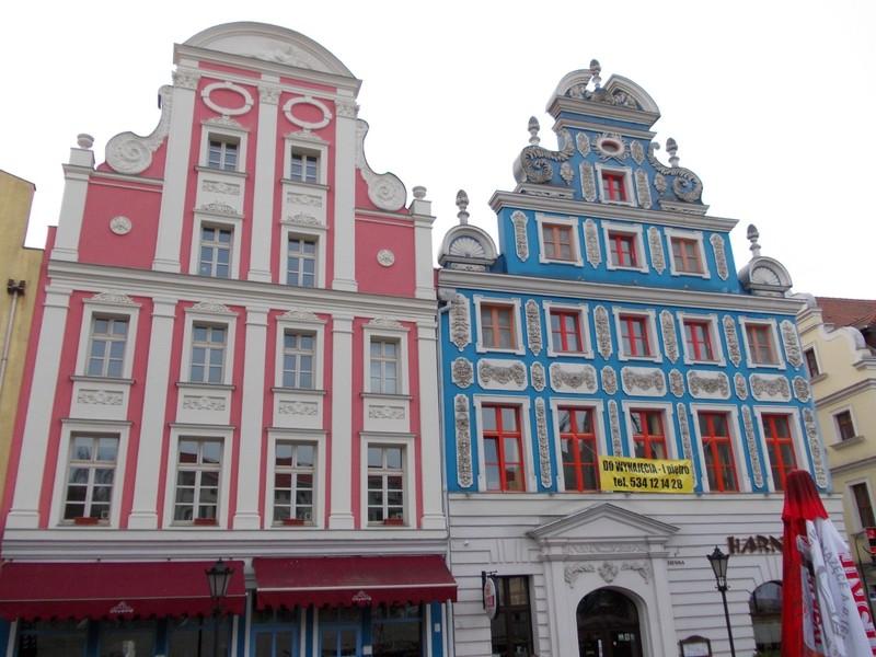 SZCZECIN  POLAND.    Restored buildings in Stare Miasto.
