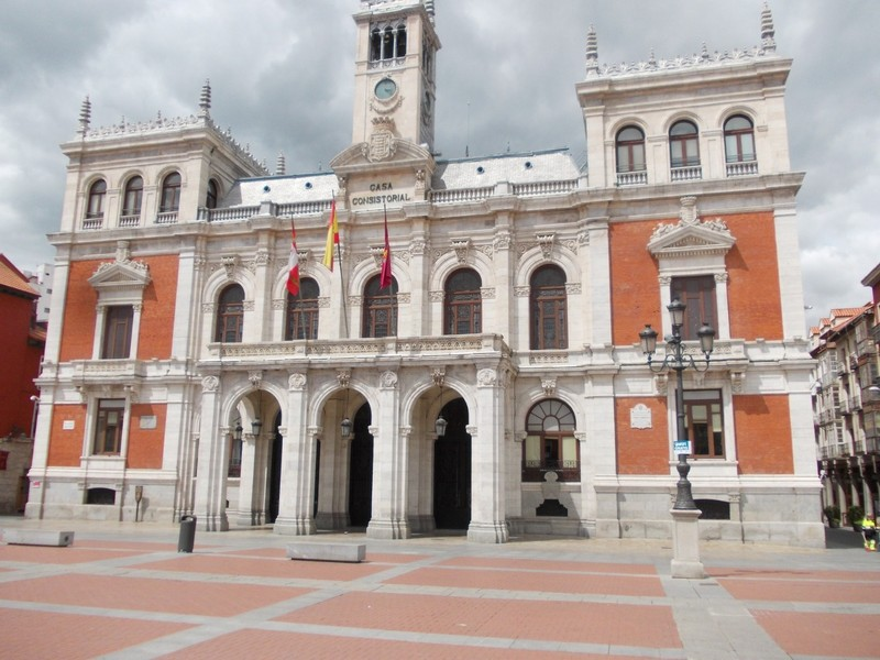 VALLADOLID,  SPAIN.  -- Town  Hall  in Plaza  Major., opened  in  1908.