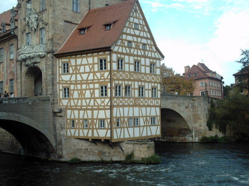 BAMBERG  GERMANY.       It looks as if it was glued on. !