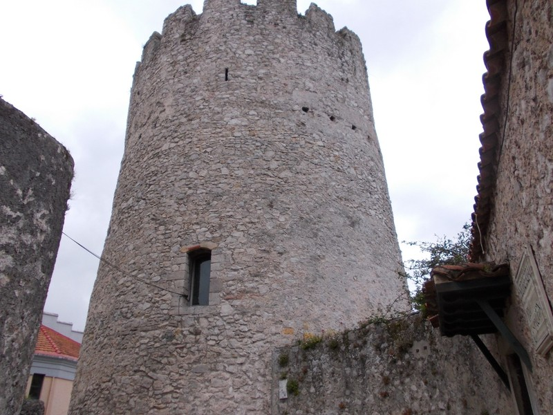 LLANES,  SPAIN.--  Torreon  de  Llanes a Medieval  structure.   --  Tower named  after Alfonso King of  Leon .