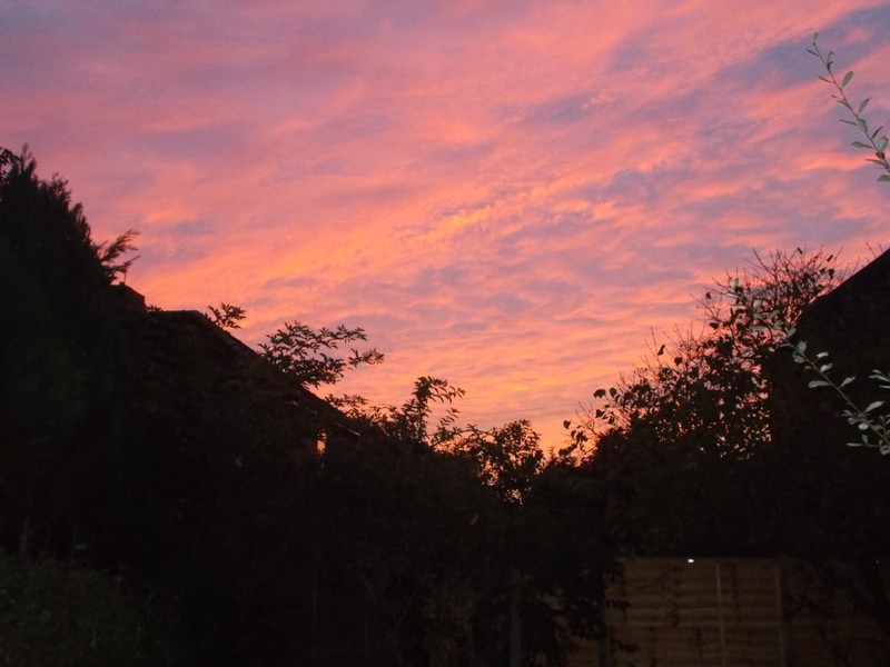The sky before setting off from home.
